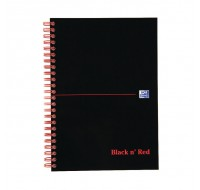 Black N Red 100 Page A5 Wirebound Ruled Feint Premium Softcover Notebook 846350151