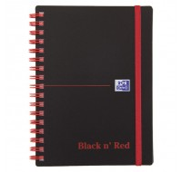 Black N Red 140 Page Elasticated A6 Wirebound Notebook 100080476