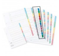 Concord 1-12 White A4 Index With Multi-Colour Tabs