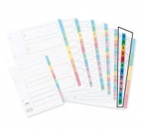Concord January-December White A4 Index With Multi-Colour Tabs 02401/CS24 - File Index