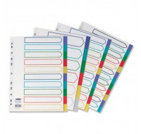 Concord 10-Part A4 Plastic Dividers 06901 - File Dividers