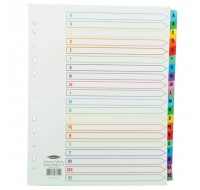 Concord Extra-Wide For Punched Pocket With Multi-Colour Tabs White A-Z Index 07801/CS78
