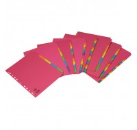 Concord Bright A4 Divider 5-Part Assorted 50699 - File Dividers