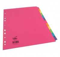 Concord 12-Part Assorted Bright A4 Dividers 50999 - File Dividers