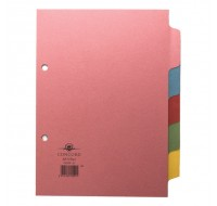 Concord A5 5-Part Subject Dividers 70599/J5 - File Dividers