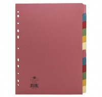 Concord Subject Divider 12-Part A4 71499/J14 - File Dividers