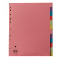 Concord Extra-Wide For Punched Pocket 12-Part A4 Subject Dividers 71799/J17 - File Dividers