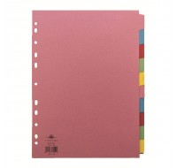 Concord Divider A4 10-Part Assorted 72099/J20 - File Dividers