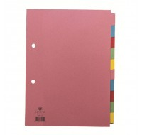 Concord 10-Part Assorted A5 Dividers 72199 - File Dividers