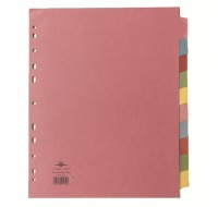 Concord 10-Part A4 Extra-Wide For Punched Pocket Subject Dividers 72699/J26 - File Dividers