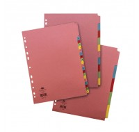 Concord Divider A4 5-Part Reinforced Assorted 77099 - File Dividers