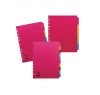 Concord 5-Part Assorted A4 Fluorescent Dividers 89099 - File Dividers