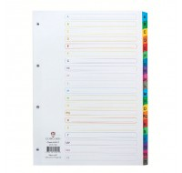 Concord A4 White A-Z Index With Multi-Colour Tabs 02101/CS21