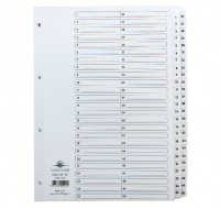 Concord Classic 1-50 White Board A4 Index With Clear Mylar Tabs 05501/CS55 - Numbered Index