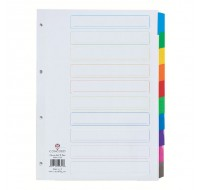 Concord White A4 10-Part Index With Multi-Colour Tabs 00801/CS8 - File Dividers