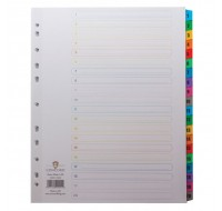 Concord 1-20 White A4 Index With Multi-Colour Tabs 09901/CS99 - Numbered Index