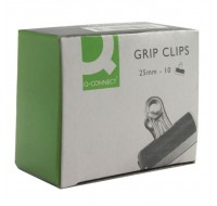 Q-Connect 25mm Grip Clips PACK OF 10 KF01287