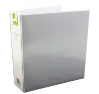 Q-Connect 50mm White A4 4D-Ring Presentation Binder KF01333