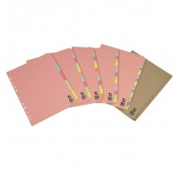 Q-Connect 12-Part A4 Subject Dividers KF01515 - File Dividers