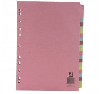 A4 Manilla 20-Part Multi-Colour Dividers WX01517 - File Dividers