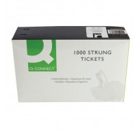 Q-Connect Strung Ticket 37 x 24mm White PACK OF 1000 KF01618