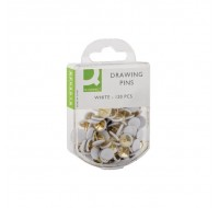 Q-Connect White Drawing Pins Pack Of 120 KF02019Q