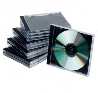 Q-Connect CD Jewel Case Black/Clear KF02209