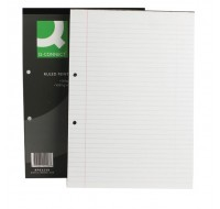 Q-Connect 80 Leaf Ruled Feint And Margin 2-Hole Punched A4 Head Bound Refill Pad KF02228