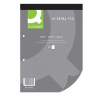 Q-Connect 80 Leaf 2-Hole Punched Plain Head Bound A4 Refill Pad KF02232