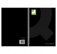 Q-Connect Black A4 Wirebound Book KF03727