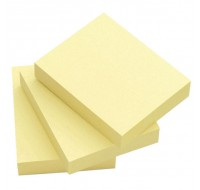 Q-Connect Yellow Quick Note Repositionable Pads 50x75mm KF10501