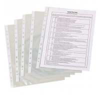 Q-Connect 50 Micron A4 Punched Pockets PACK OF 100 KF24001