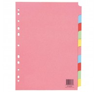 Q-Connect Multicolour A4 10-Part Dividers KF26082 - File Dividers