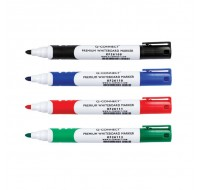Q-Connect Assorted Bullet Tip Premium Whiteboard Markers KF26113 - Drywipe Markers
