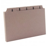 Q-Connect Guide Card 5x3 Inch A-Z Buff KF35207 - Guide Cards