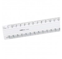 Linex White 300mm Flat 1:20:500 Scale Ruler 434 LXH - Scale Ruler