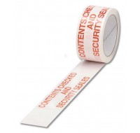 Ambassador Polypropylene White/Red Contents Checked Printed Tape 50mm x 66 Metres - Printed Tape