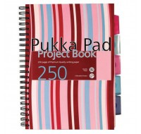 Pukka Pad 250 Page Ruled Feint A4 Hardback Project Book CBPROBA4