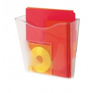 Deflecto Portrait Crystal 210 Literature File Holder CP078YTCRY
