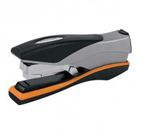 Rexel Optima 40 Black/Silver/Orange Manual Stapler 2102357 - Office Staplers