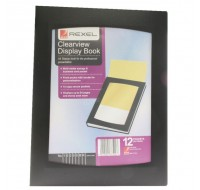 Rexel Black Clearview 12-Pocket A4 Display Book