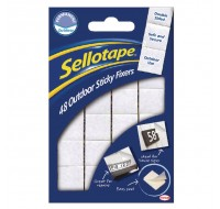 Sellotape Sticky Fixers Outdoor Pack Of 48 20 x 20mm - Adhesive Strips