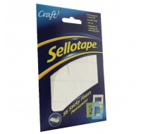 Sellotape Sticky Fixers 12 x 25mm Pack Of 56 - Adhesive Strips