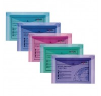 Snopake Assorted Electra Colours A5 Polyfile Wallets 11355 - Press Stud Document Wallets
