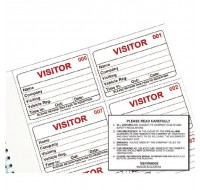 Identibadge Visitors Book Refill IBRSYS