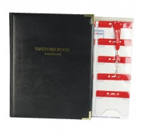 Identibadge Visitors Book With 100 Inserts / 10 Pockets / 10 Visitor Lanyards IBSSC4