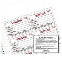Identibadge System Visitors Book Refill IBRSYS300