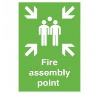 Fire Assembly Point A2 PVC Safety Sign FR04548R - Fire Exit Signs