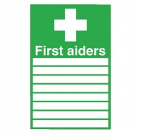 First Aiders 300 x 200mm PVC Safety Sign FA01926R - First Aid Signs
