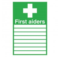 First Aiders 300 x 200mm Self-Adhesive Safety Sign FA01926S - First Aid Signs